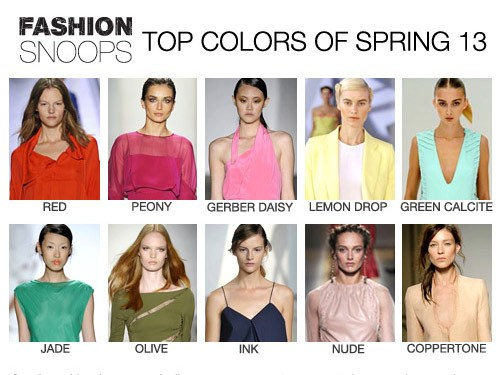 fashion colors spring 2013